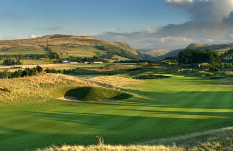 Golf course at Gleneagles Hotel.