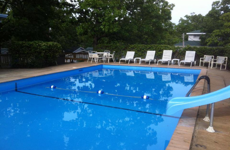 Outdoor pool at Lighthouse Lodge Resort.