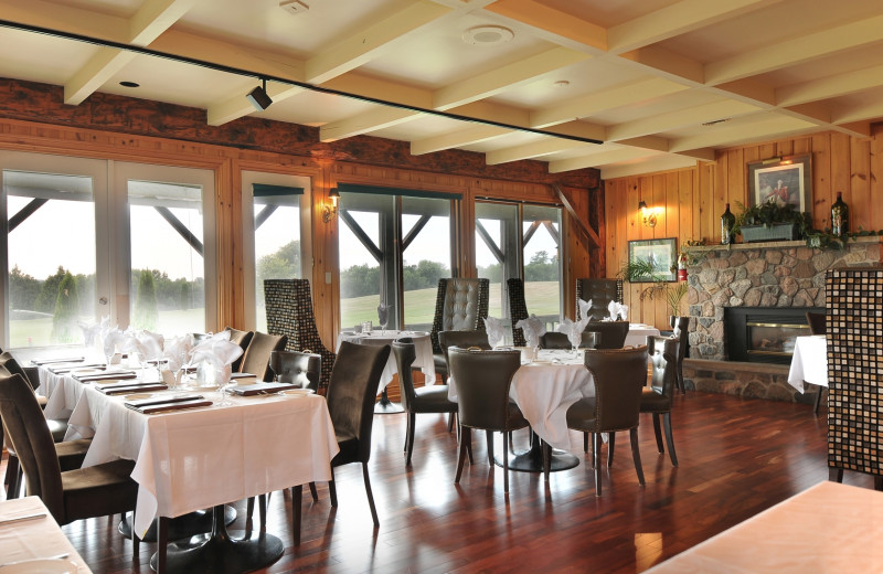 Dining at Eganridge Resort, Country Club & Spa.