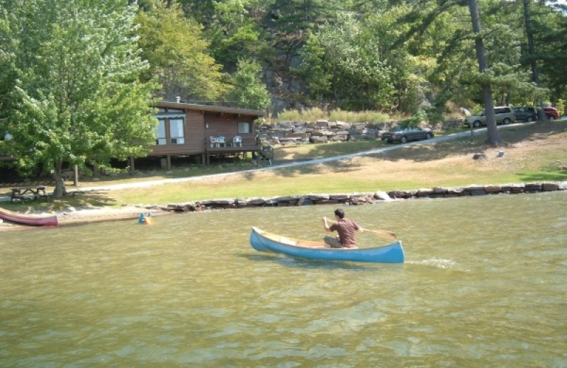 Canoeing at Paquana Cottage Resort.