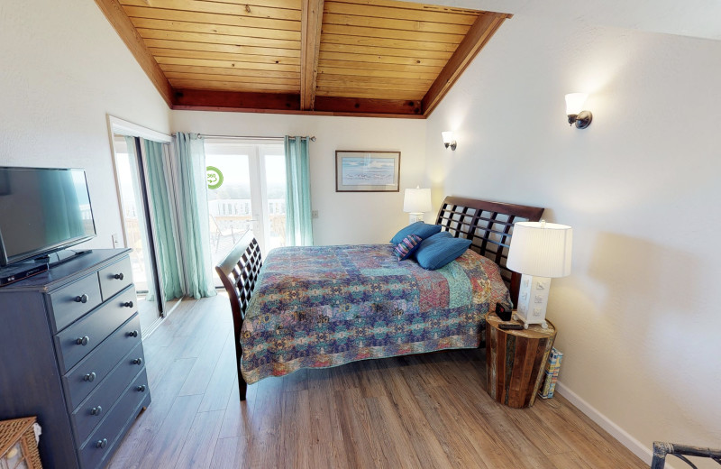 Rental bedroom at Irish Beach Vacation Rentals.