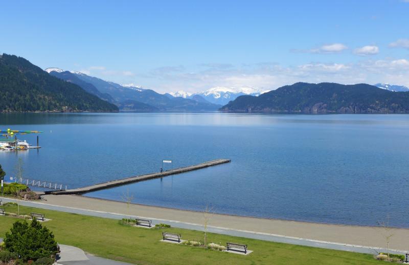 Lake view at Harrison Beach Hotel.