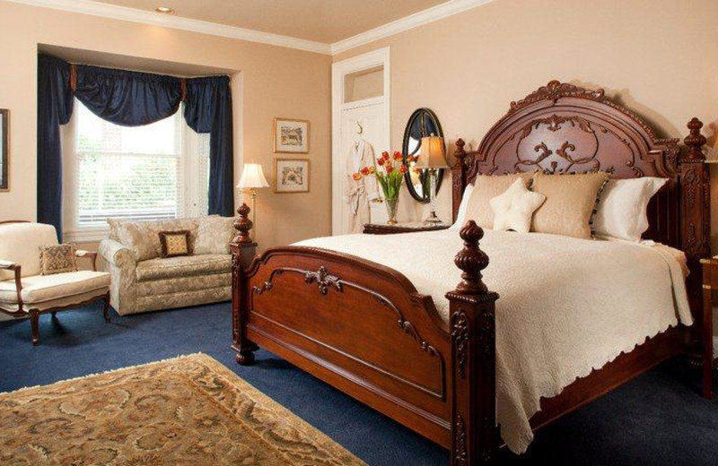 Guest room at Swann House Bed and Breakfast.