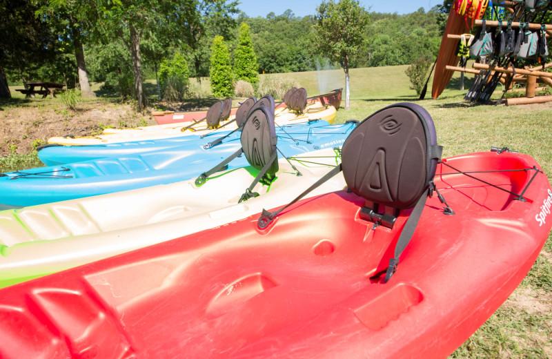 Kayaks at Long Lake Resort.