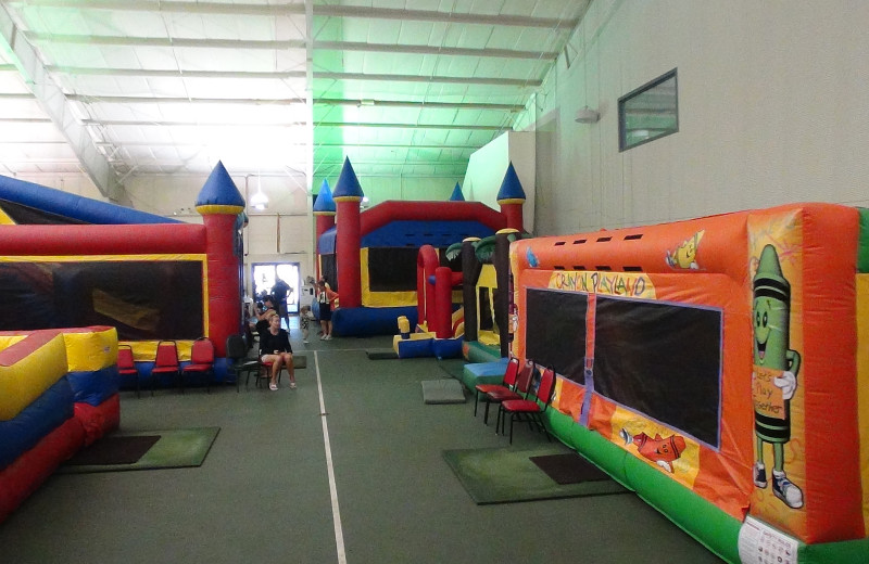 Kids bounce area at Villa Roma Resort.