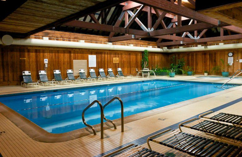 Indoor pool at The Heritage Hotel.