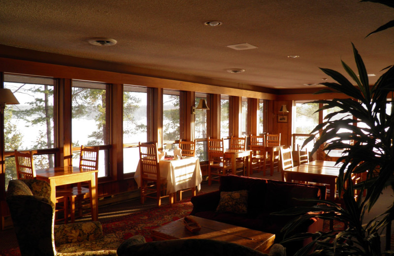 Dining room at Westwind Inn on the Lake.