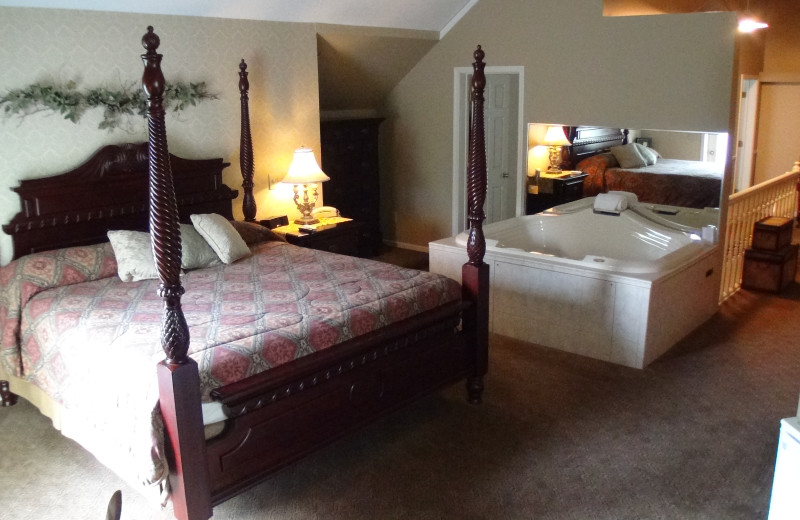 Guest bedroom at Historic Afton House Inn.