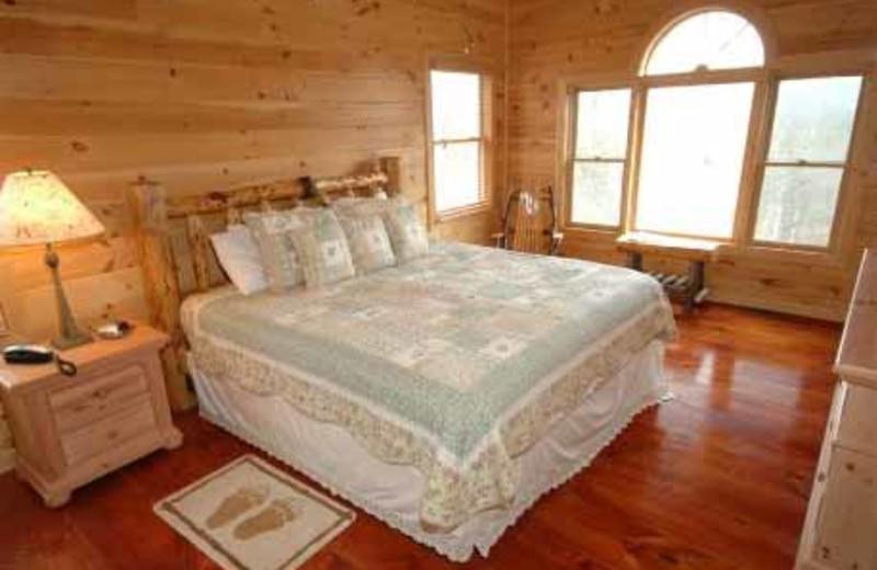 King Bedroom at JP Ridgeland Cabin Rentals