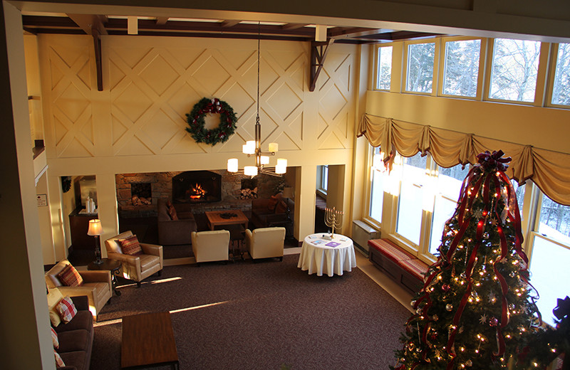Lobby at The Golden Eagle Lodge.