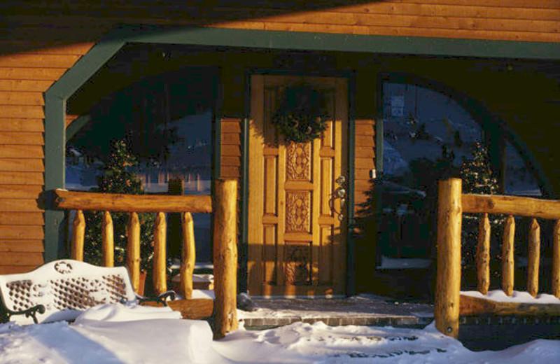 Porch at The Mountain Inn.