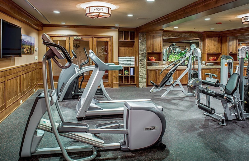Fitness room at Wyoming Inn of Jackson Hole.