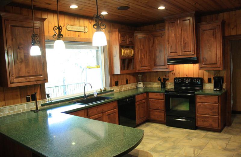 Rental kitchen at Frio Family Getaway