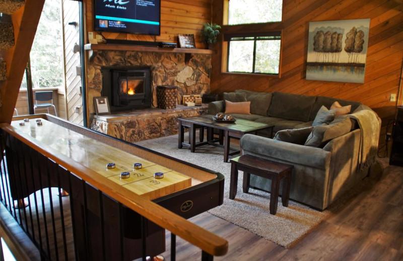 Rental living room at Nomadness Rentals.