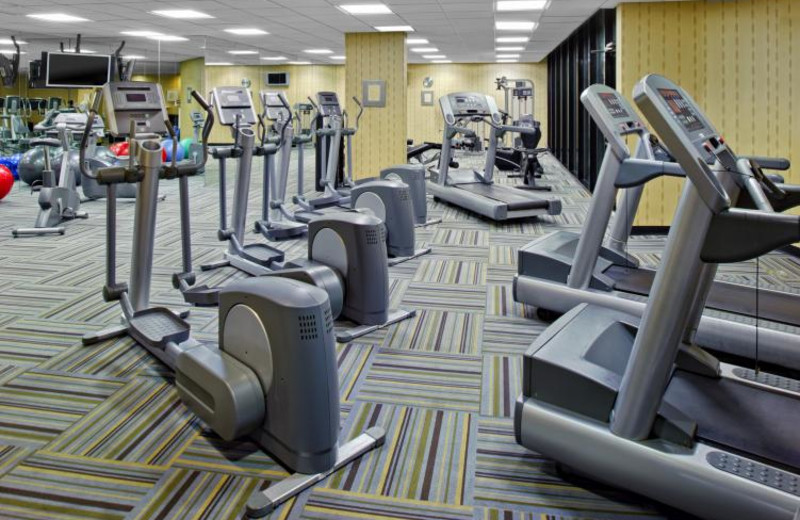 Fitness room at Sheraton Miami Airport Hotel.