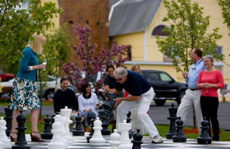 Giant chess at La Tourelle Resort & Spa.