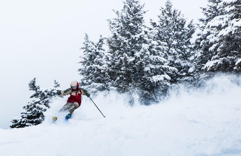 Skiing at Wyoming Inn of Jackson Hole.