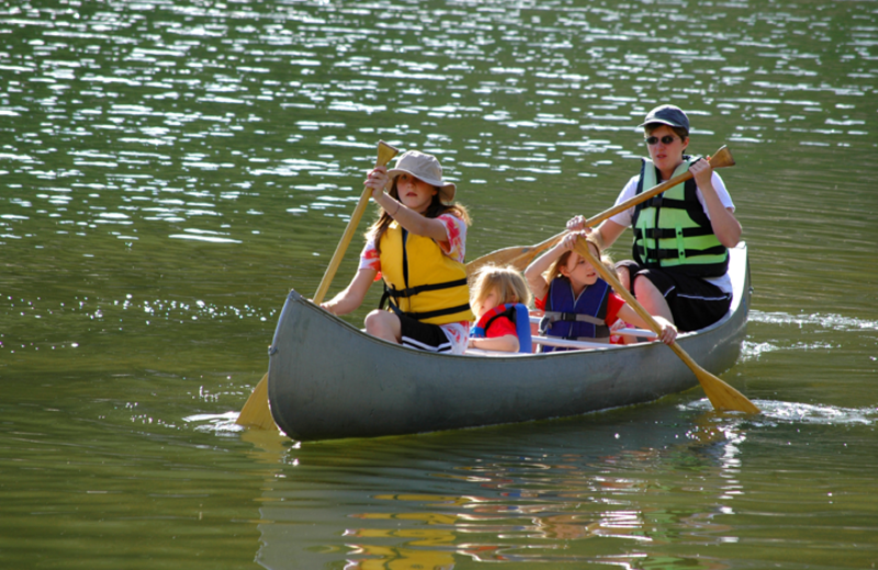 Canoeing at Birch Bay Resort.