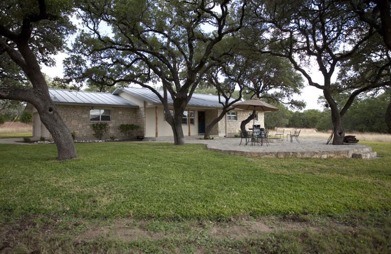 Cottage exterior at Joshua Creek Ranch.