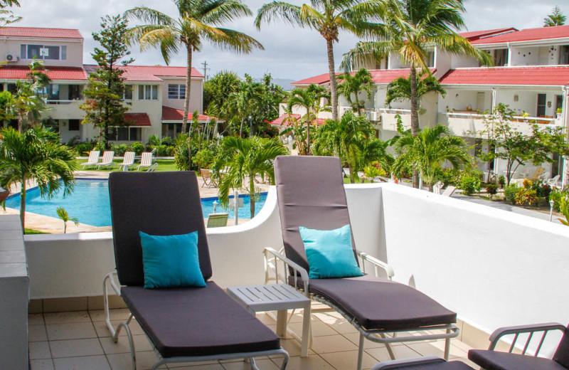 Outdoor pool at Antigua Village Beach Resort.