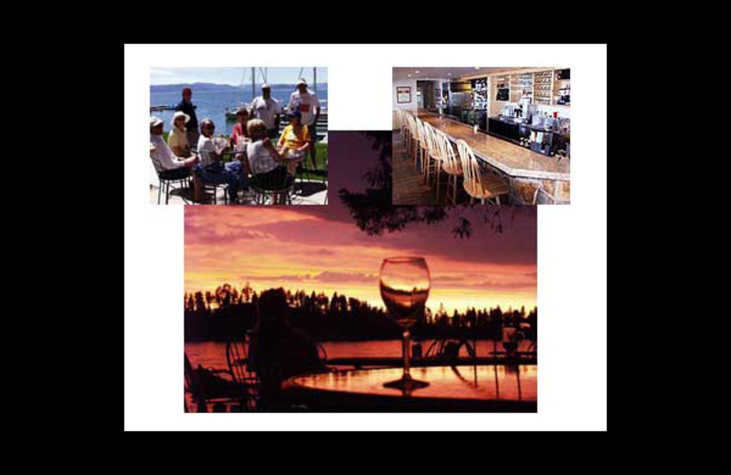 Dining at Many Springs Flathead Lake Resort.