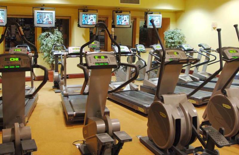 Fitness room at The Hibernian Hotel.