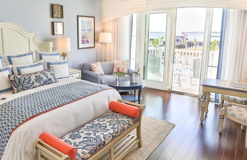 Guest room at Charleston Harbor Resort and Marina.