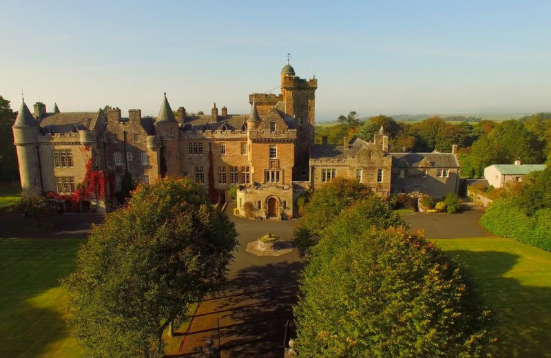 Exterior view of Glenapp Castle.