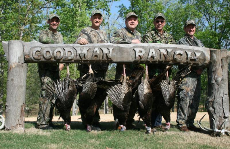 Turkey hunting at Goodman Ranch.