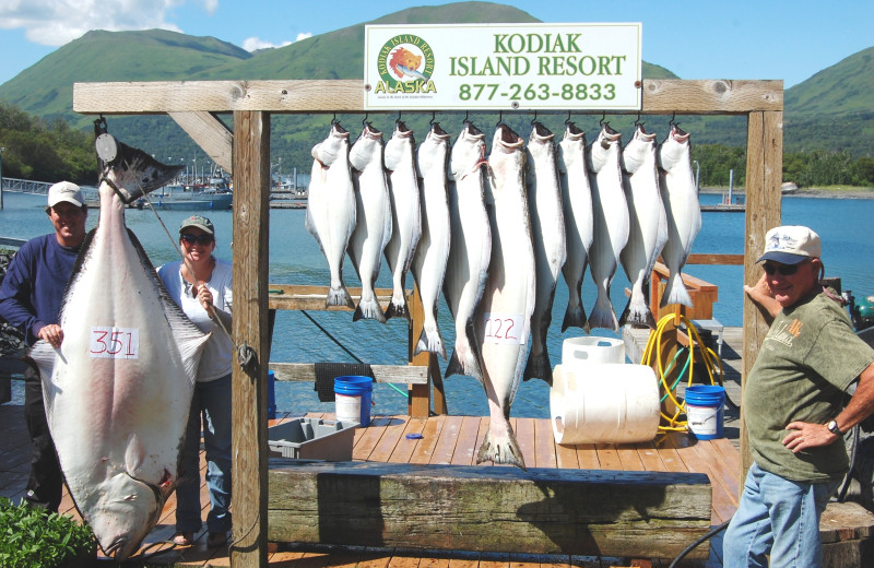 Fishing at Alaska's Kodiak Island Resort.