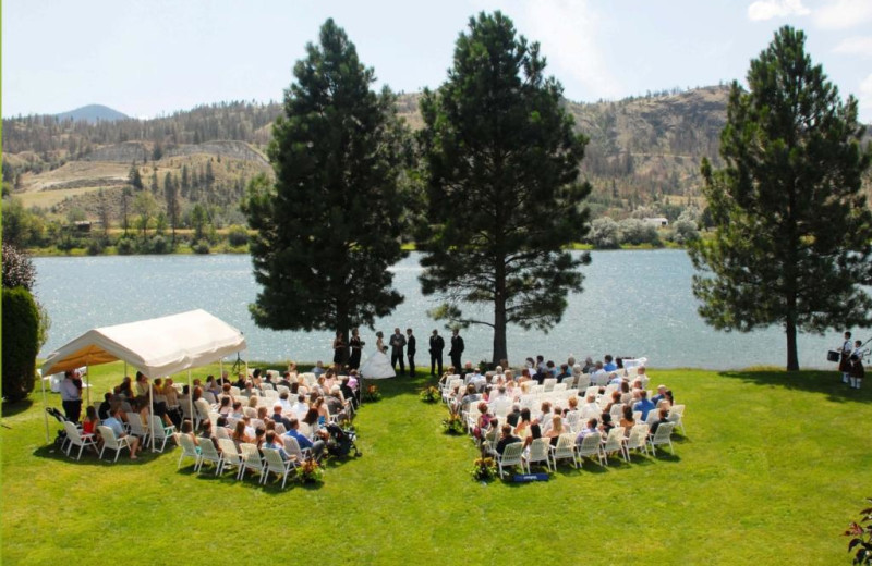 Wedding ceremony at South Thompson Inn & Conference Centre.