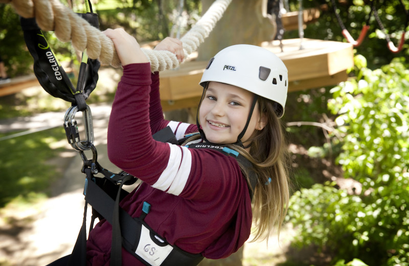 Rope course at Oglebay Resort and Conference Center.