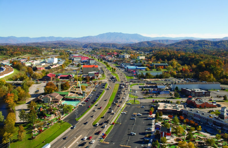 Downtown Pigeon Forge near Golfview Vacation Rentals.