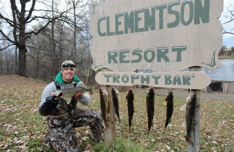 Fishing at Clementson Resort.