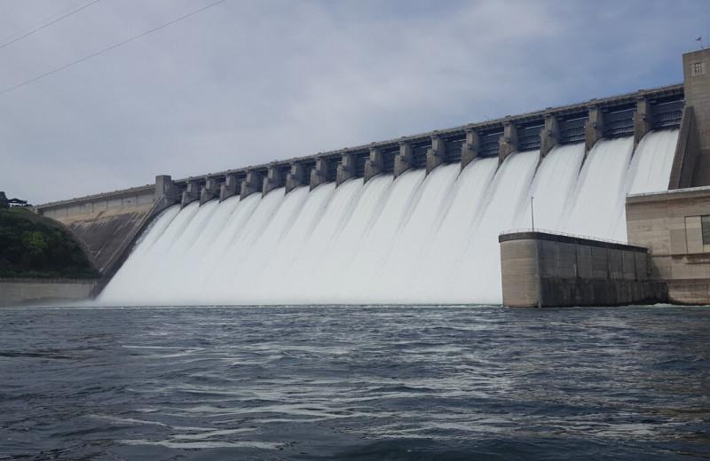 Dam near Copper John's Resort.