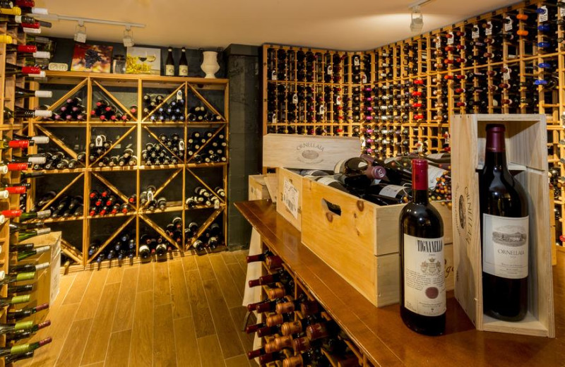 Wine cellar at Sherwood Inn.