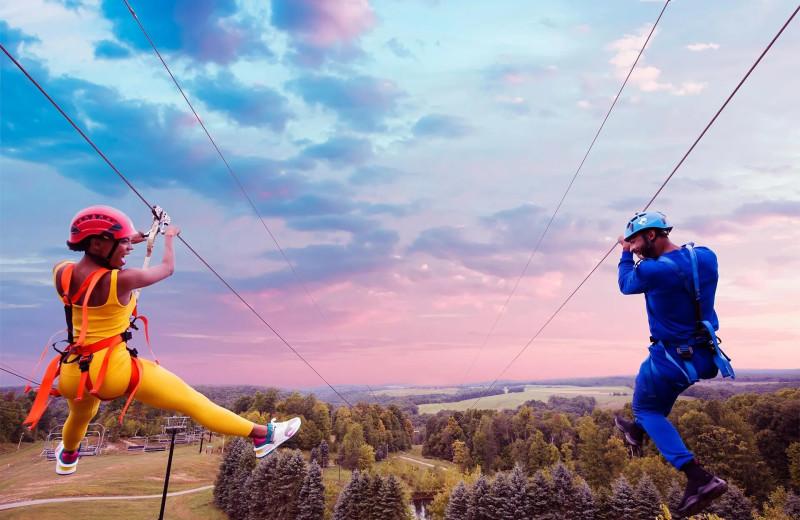 Zipline at Nemacolin Woodlands Resort.