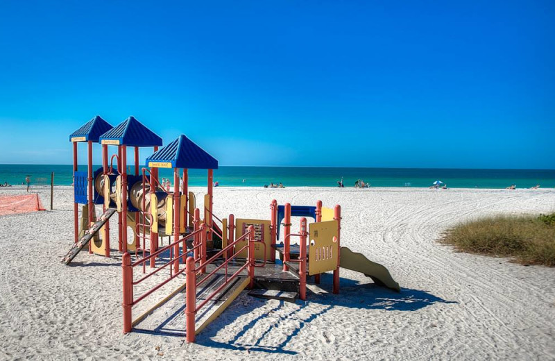 Beach playground at Anna Maria Vacations.