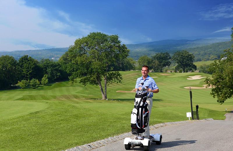Golfing at Minerals Hotel.