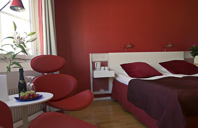Guest room at Arctic Hotel Lulea.