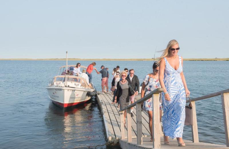 Dock at Winnetu Oceanside Resort.