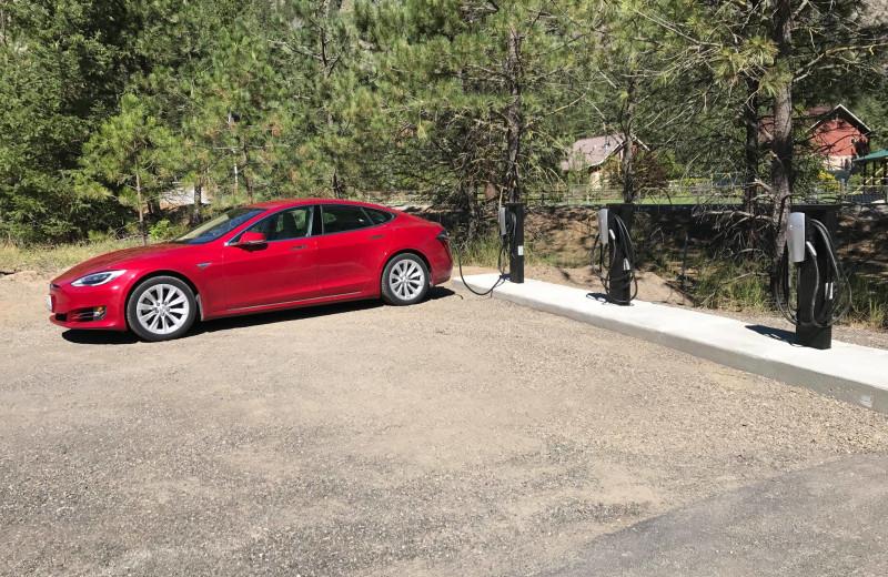 Car charging station at Sleeping Lady.