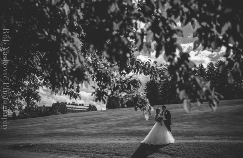 Black and White Wedding Image from Skytop Lodge