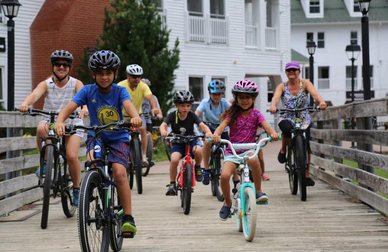 Biking at Waterville Valley Resort Association.