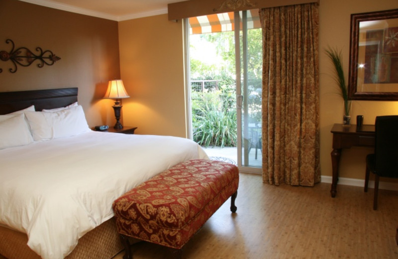 Guest room at The San Joaquin Hotel.