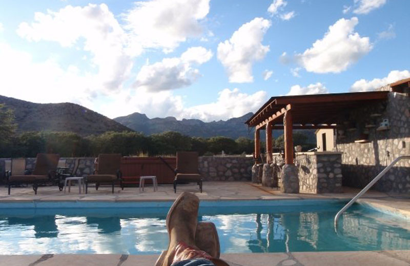 Outdoor pool at Price Canyon Ranch.