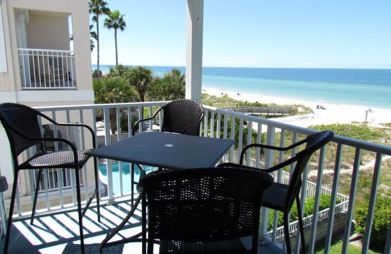 Rental balcony at Long Key Vacation Rentals.