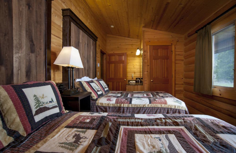Two bed cabin bedroom at 320 Guest Ranch.