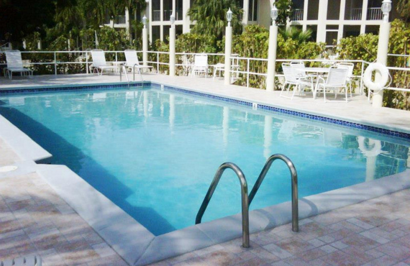 Outdoor pool at Island Houses of Cayman Kai.