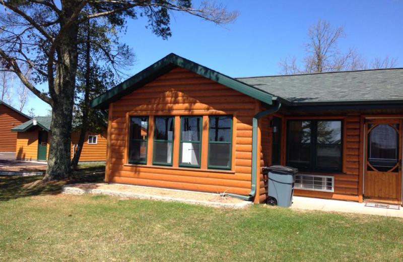 Cabins at Northern Pines Resort.